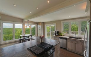 Kitchen and Deck - Country homes for sale and luxury real estate including horse farms and property in the Caledon and King City areas near Toronto