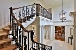 Stairway - Country homes for sale and luxury real estate including horse farms and property in the Caledon and King City areas near Toronto