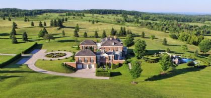 West Side Aerial - Country homes for sale and luxury real estate including horse farms and property in the Caledon and King City areas near Toronto