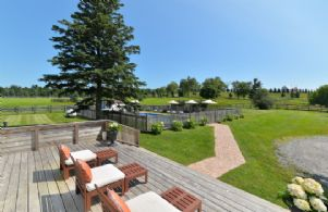 Back Yard and Pool - Country homes for sale and luxury real estate including horse farms and property in the Caledon and King City areas near Toronto