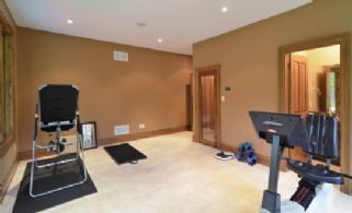 Fitness Room with Sauna - Country homes for sale and luxury real estate including horse farms and property in the Caledon and King City areas near Toronto