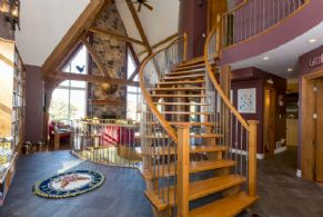 Stairways in Living Room Facing West - Country homes for sale and luxury real estate including horse farms and property in the Caledon and King City areas near Toronto