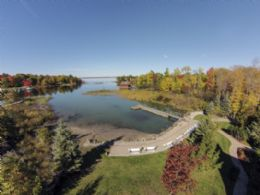 Waterfront Aerial View - Country homes for sale and luxury real estate including horse farms and property in the Caledon and King City areas near Toronto