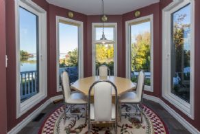 Breakfast Room with Western Views - Country homes for sale and luxury real estate including horse farms and property in the Caledon and King City areas near Toronto