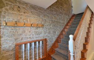 Exposed Stone Walls Throughout The Home - Country homes for sale and luxury real estate including horse farms and property in the Caledon and King City areas near Toronto