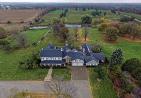 Stone Estate Aerial - Country homes for sale and luxury real estate including horse farms and property in the Caledon and King City areas near Toronto