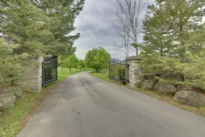 Entrance Gate - Country homes for sale and luxury real estate including horse farms and property in the Caledon and King City areas near Toronto