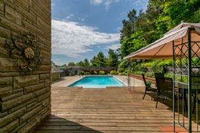 Deck and Pool - Country homes for sale and luxury real estate including horse farms and property in the Caledon and King City areas near Toronto