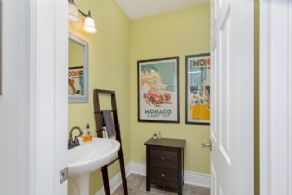 Main Floor Powder Room - Country homes for sale and luxury real estate including horse farms and property in the Caledon and King City areas near Toronto