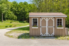 Garden Shed - Country homes for sale and luxury real estate including horse farms and property in the Caledon and King City areas near Toronto
