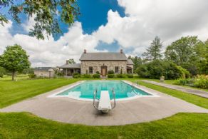 Pool and Gardens - Country homes for sale and luxury real estate including horse farms and property in the Caledon and King City areas near Toronto