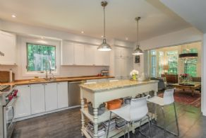 Open Concept Kitchen - Country homes for sale and luxury real estate including horse farms and property in the Caledon and King City areas near Toronto