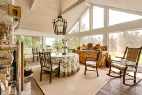 West Facing Screened Porch - Country homes for sale and luxury real estate including horse farms and property in the Caledon and King City areas near Toronto