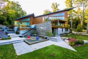 Infinity Edge Pool + Waterfall Garden - Country homes for sale and luxury real estate including horse farms and property in the Caledon and King City areas near Toronto
