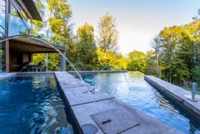 Infinity Edge Pool - Country homes for sale and luxury real estate including horse farms and property in the Caledon and King City areas near Toronto