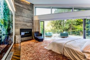 Master Bedroom with Sliding Glass Wall - Country homes for sale and luxury real estate including horse farms and property in the Caledon and King City areas near Toronto