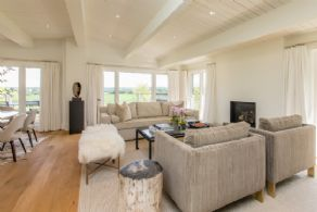 Living Room with Fireplace - Country homes for sale and luxury real estate including horse farms and property in the Caledon and King City areas near Toronto