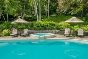 Saltwater Pool, Hot Tub & Gardens - Country homes for sale and luxury real estate including horse farms and property in the Caledon and King City areas near Toronto