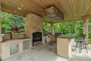 Outdoor Kitchen - Country homes for sale and luxury real estate including horse farms and property in the Caledon and King City areas near Toronto