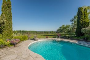 Views Over the Pool - Country homes for sale and luxury real estate including horse farms and property in the Caledon and King City areas near Toronto