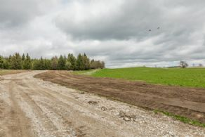 New Driveway to Building Site - Country homes for sale and luxury real estate including horse farms and property in the Caledon and King City areas near Toronto