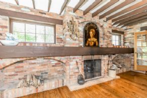 Dining Room Fireplace - Country homes for sale and luxury real estate including horse farms and property in the Caledon and King City areas near Toronto