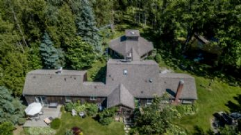 Aerial Shot - Country homes for sale and luxury real estate including horse farms and property in the Caledon and King City areas near Toronto