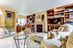 Family Room - Country homes for sale and luxury real estate including horse farms and property in the Caledon and King City areas near Toronto