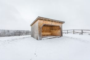 1 of 3 Run-in Sheds - Country homes for sale and luxury real estate including horse farms and property in the Caledon and King City areas near Toronto