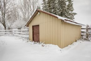 Storage Building with Concrete Floor - Country homes for sale and luxury real estate including horse farms and property in the Caledon and King City areas near Toronto