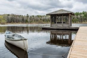 Gazebo and Dock - Country homes for sale and luxury real estate including horse farms and property in the Caledon and King City areas near Toronto