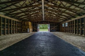 Hay and Shaving Storage Area - Country homes for sale and luxury real estate including horse farms and property in the Caledon and King City areas near Toronto