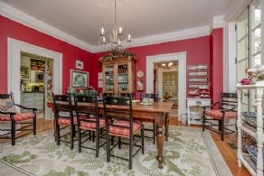 Dining Room has been Lovingly Restored to show Period Details - Country homes for sale and luxury real estate including horse farms and property in the Caledon and King City areas near Toronto